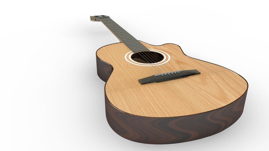 Classic Guitar royalty-free 3d model - Preview no. 7