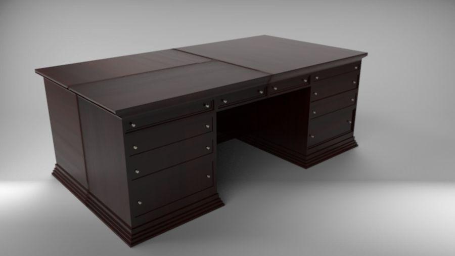 Bureau classique royalty-free 3d model - Preview no. 2