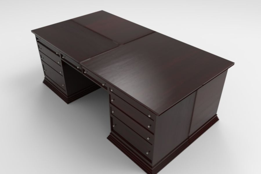 Bureau classique royalty-free 3d model - Preview no. 5