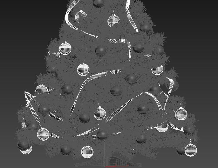 Weihnachtsbaum royalty-free 3d model - Preview no. 7