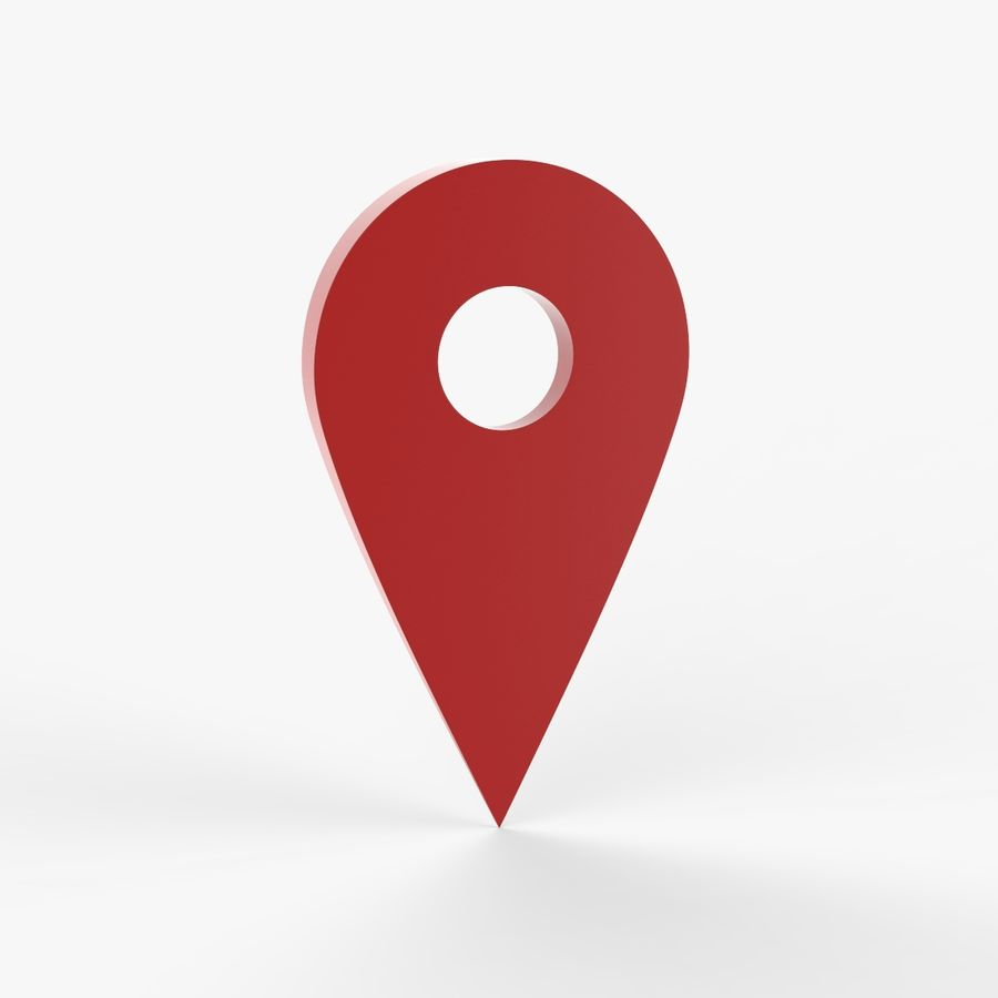 Pointer Location Map royalty-free 3d model - Preview no. 2