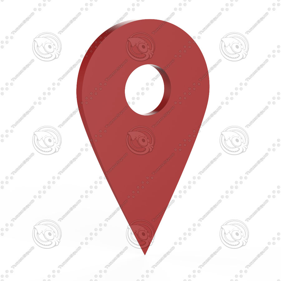 Pointer Location Map royalty-free 3d model - Preview no. 3