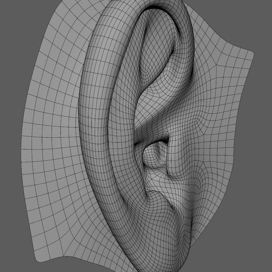 Ludzkie ucho Gotowy do wydruku. royalty-free 3d model - Preview no. 6