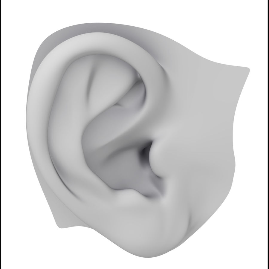 Ludzkie ucho Gotowy do wydruku. royalty-free 3d model - Preview no. 1