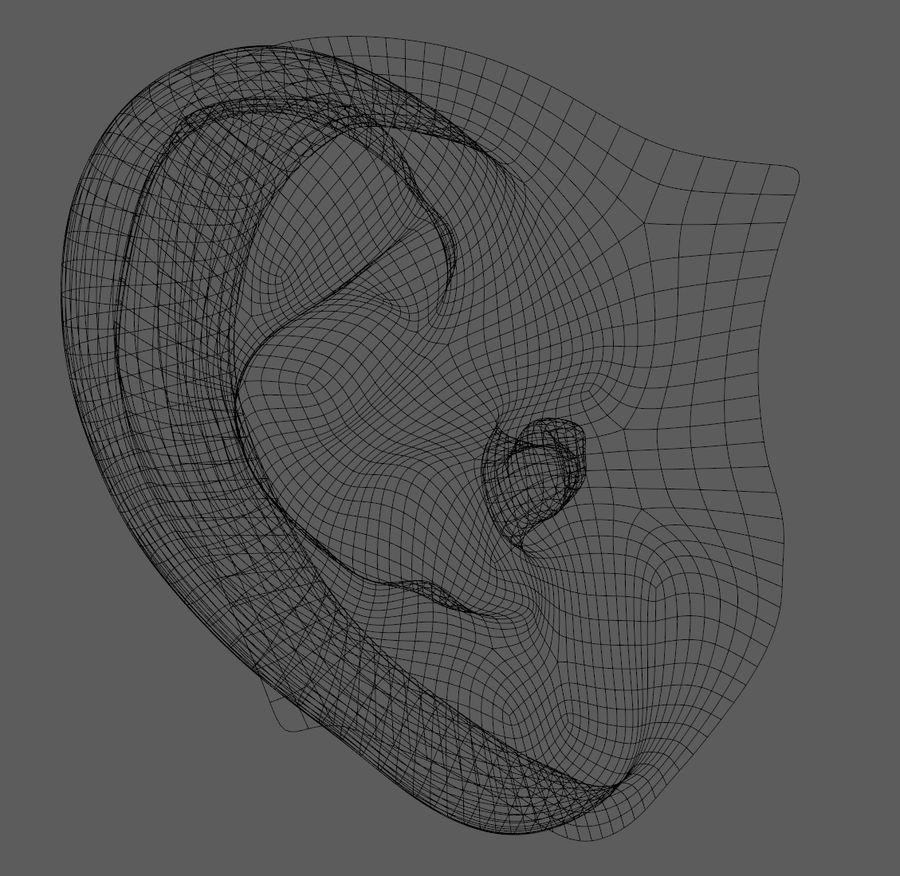Ludzkie ucho Gotowy do wydruku. royalty-free 3d model - Preview no. 7