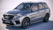 Mercedes GLE43 AMG wagon 2018 3d model