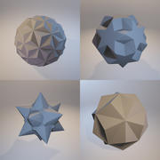 Bir fraktal üç boyutlu tek renkli sembolik nesneler kümesi. 3d model