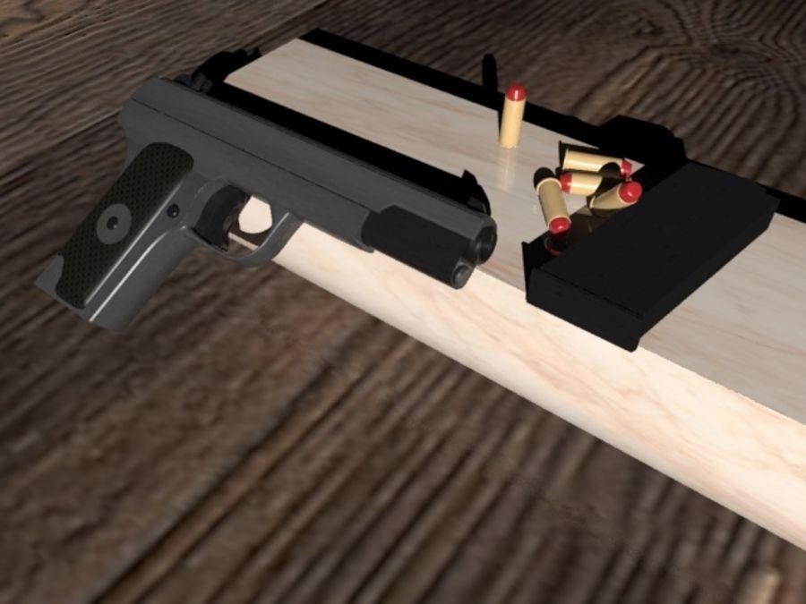 手枪 royalty-free 3d model - Preview no. 5