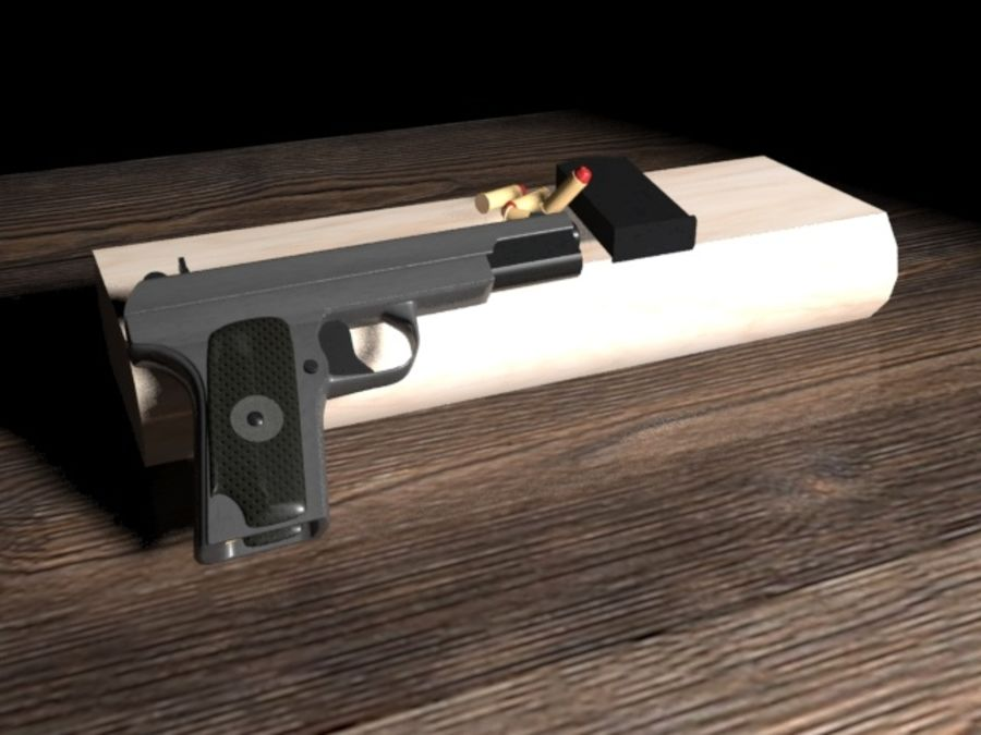 手枪 royalty-free 3d model - Preview no. 2