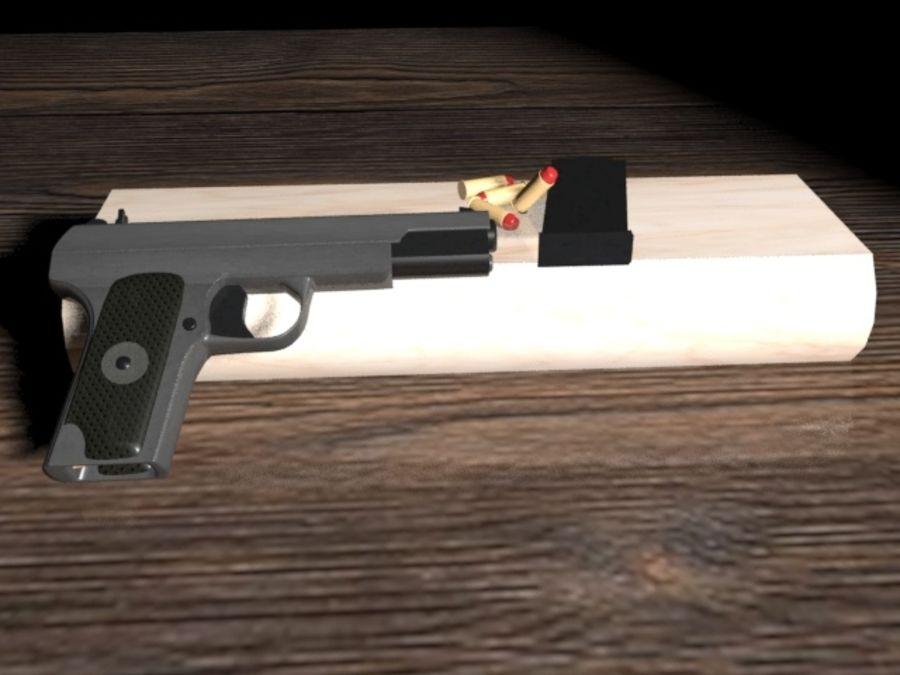 手枪 royalty-free 3d model - Preview no. 1
