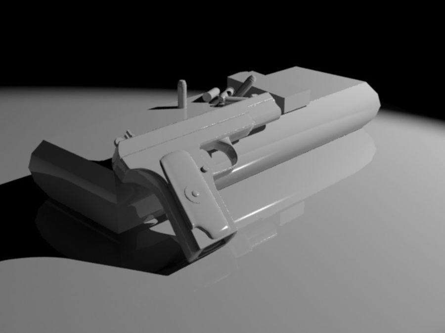 手枪 royalty-free 3d model - Preview no. 6