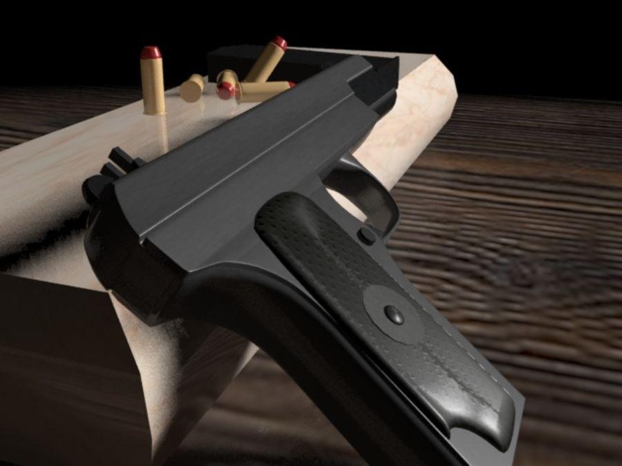 手枪 royalty-free 3d model - Preview no. 4