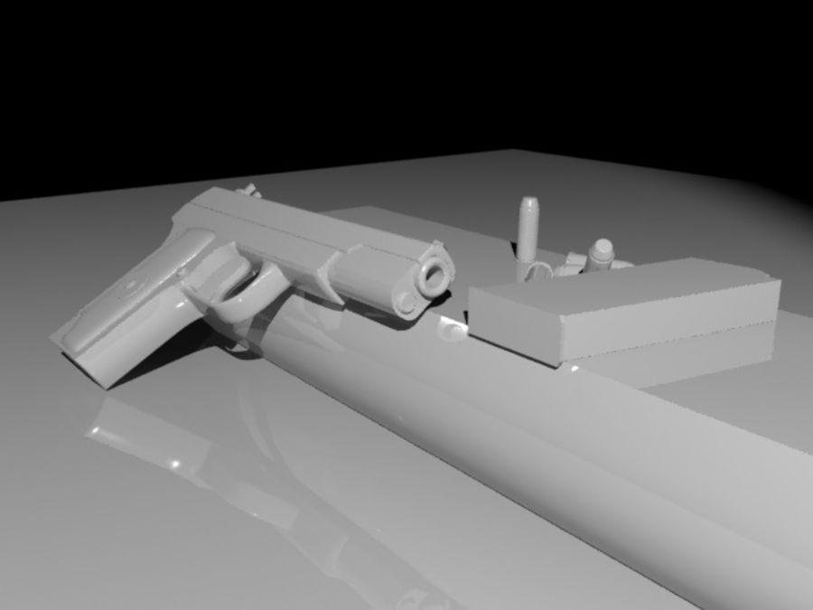 手枪 royalty-free 3d model - Preview no. 7