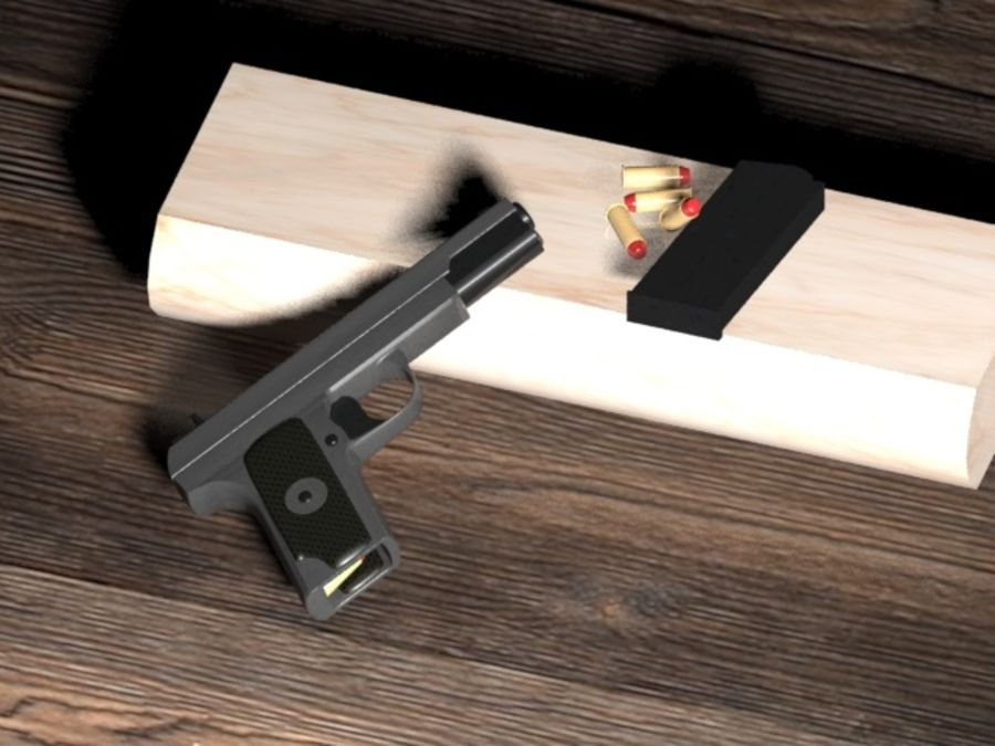 手枪 royalty-free 3d model - Preview no. 3