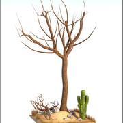 Toter Baum und Kaktus 3d model
