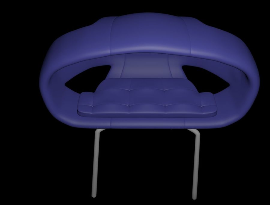SILLON (1) royalty-free modelo 3d - Preview no. 1