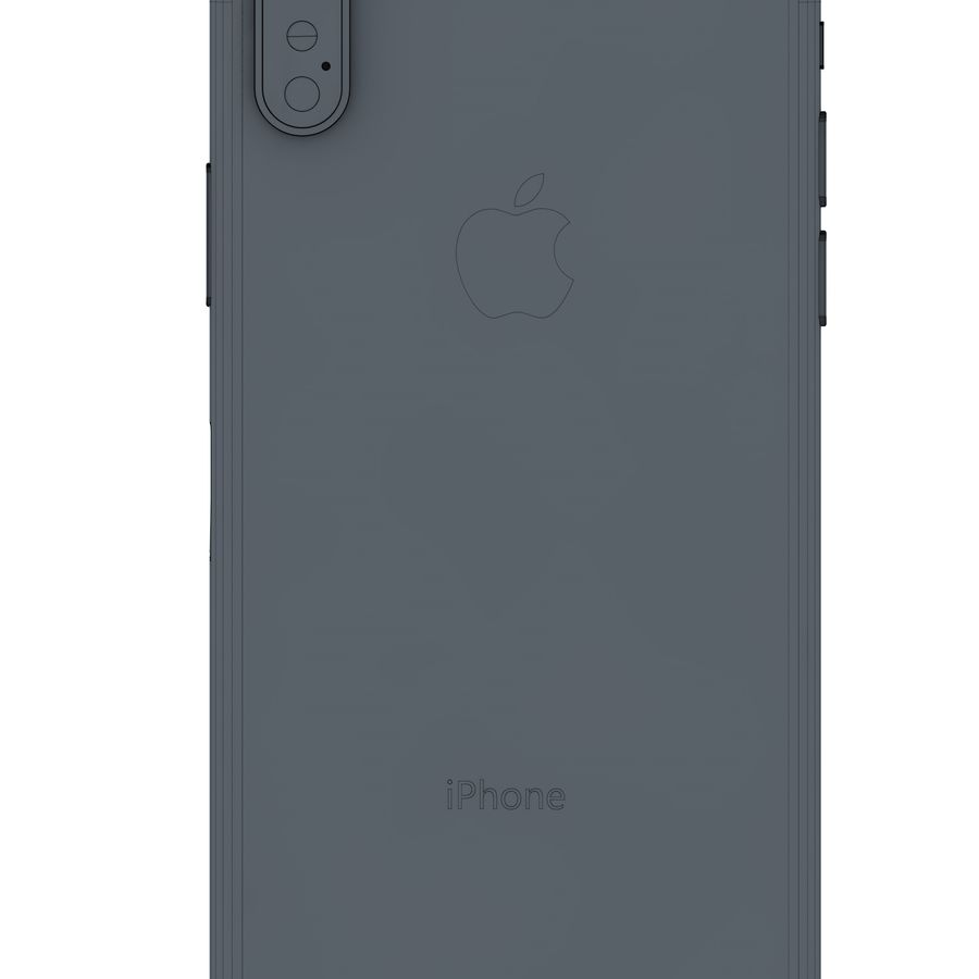 Apple iPhone X All Colors royalty-free 3d model - Preview no. 1
