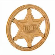 Sheriff bricka 3d model