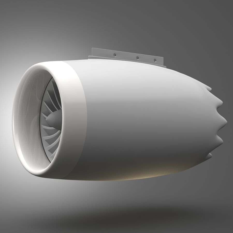 제트 엔진 royalty-free 3d model - Preview no. 1