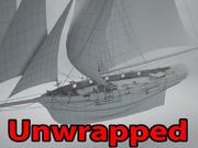 커터 선박 3d model