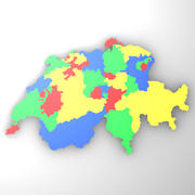 Map of Switzerland 3d model