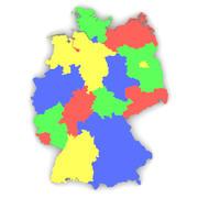 ドイツの地図 3d model