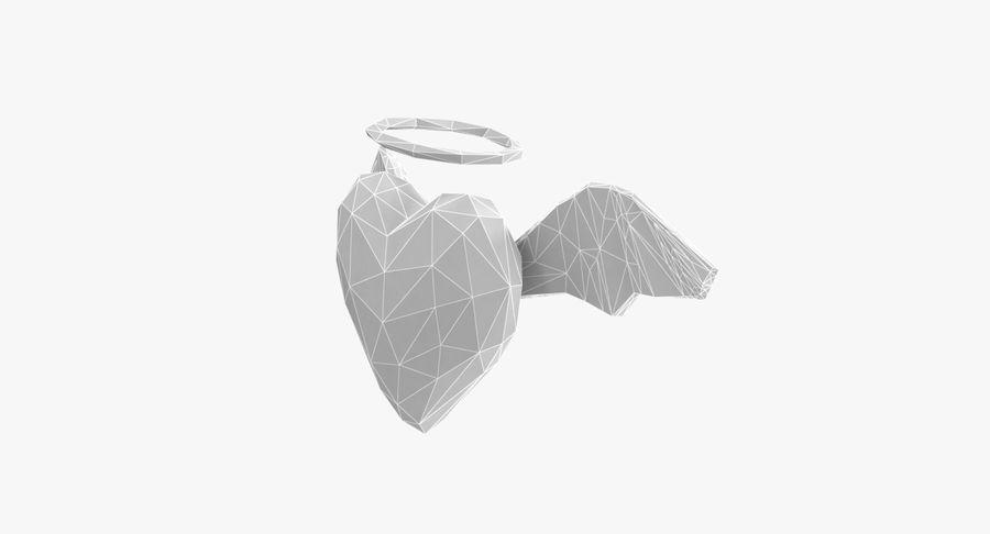 Düşük poli Angel Heart royalty-free 3d model - Preview no. 7