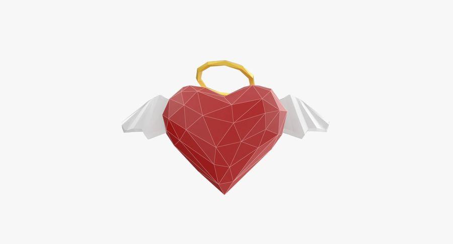 Düşük poli Angel Heart royalty-free 3d model - Preview no. 5