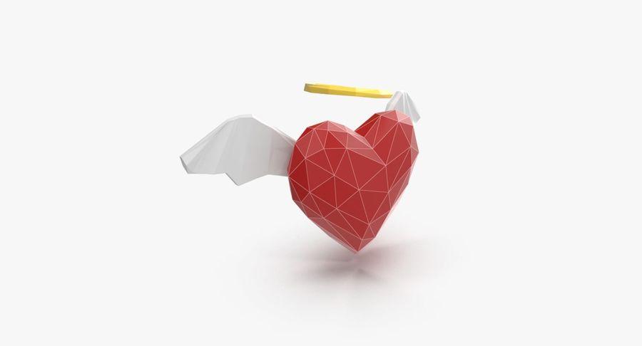 Düşük poli Angel Heart royalty-free 3d model - Preview no. 3