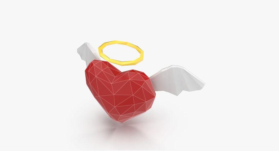 Düşük poli Angel Heart royalty-free 3d model - Preview no. 4