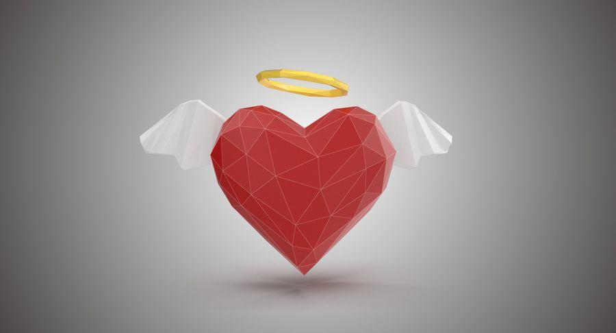 Düşük poli Angel Heart royalty-free 3d model - Preview no. 2