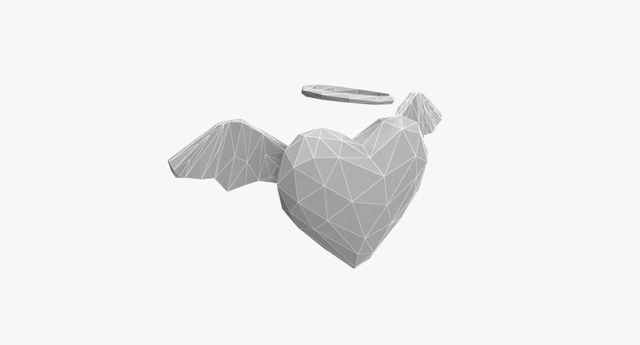 Düşük poli Angel Heart royalty-free 3d model - Preview no. 8