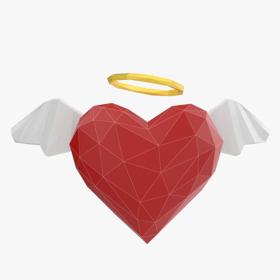 Düşük poli Angel Heart royalty-free 3d model - Preview no. 1