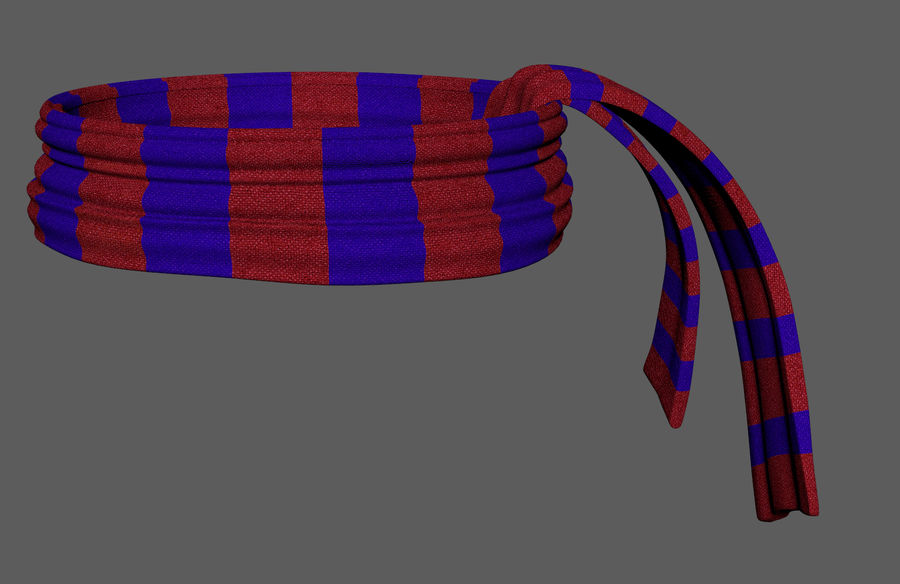 Wool Scarf royalty-free 3d model - Preview no. 4
