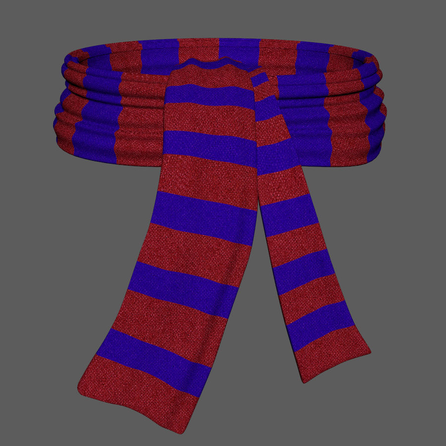 Wool Scarf royalty-free 3d model - Preview no. 2