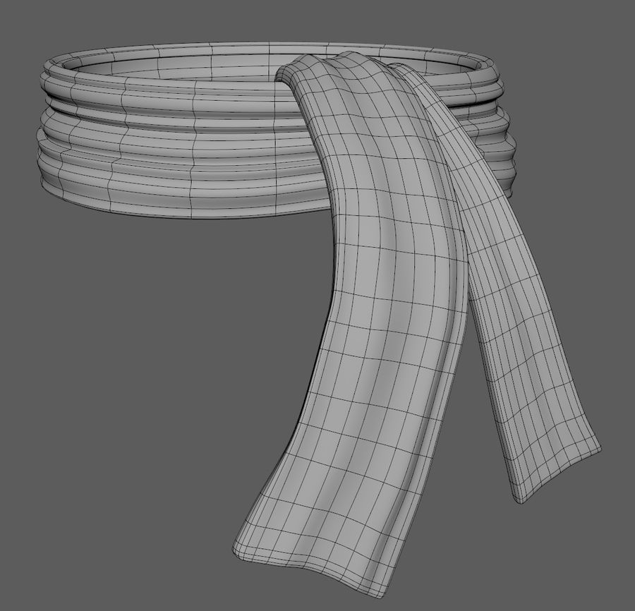 Wool Scarf royalty-free 3d model - Preview no. 6