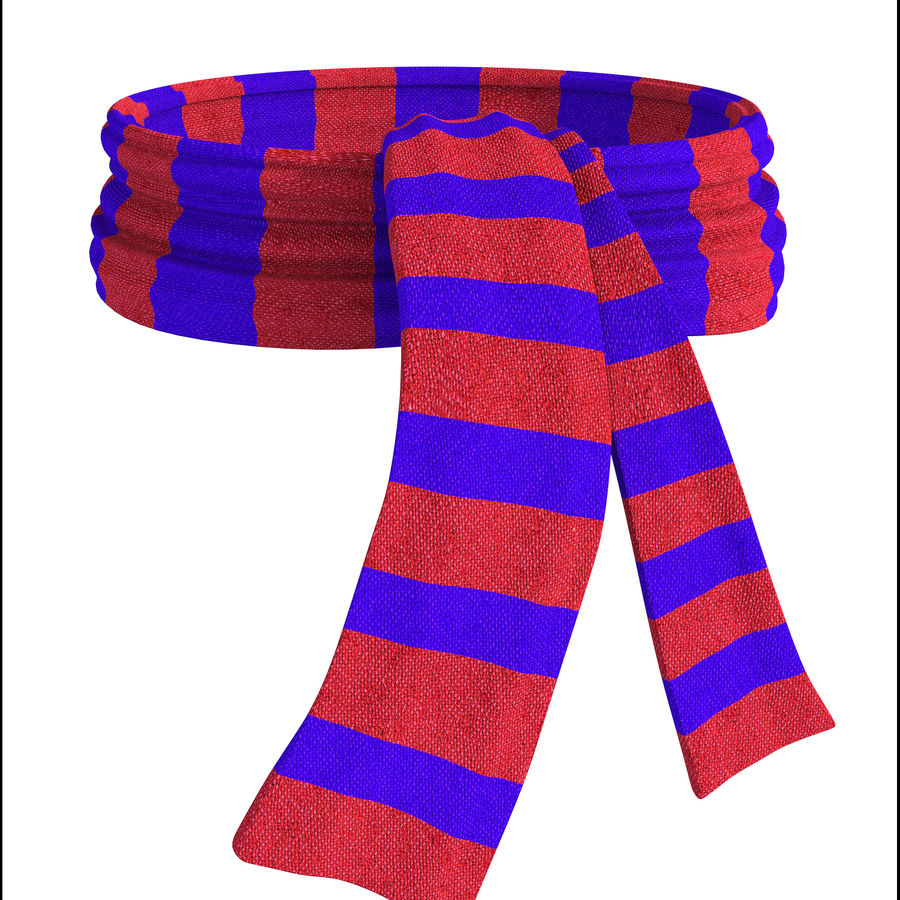 Wool Scarf royalty-free 3d model - Preview no. 1