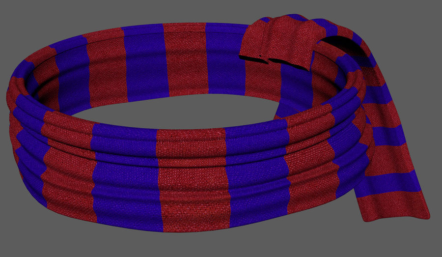 Wool Scarf royalty-free 3d model - Preview no. 5