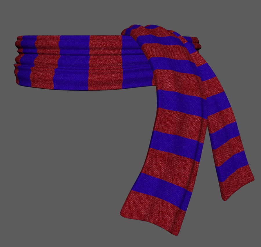 Wool Scarf royalty-free 3d model - Preview no. 3