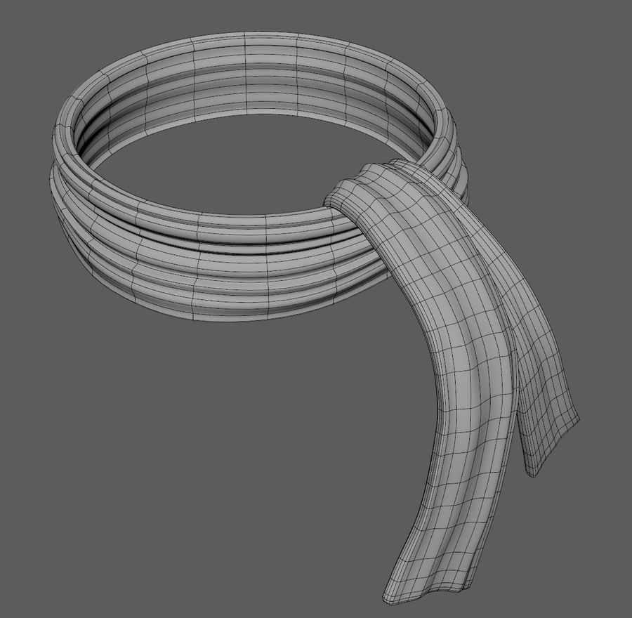 Wool Scarf royalty-free 3d model - Preview no. 8