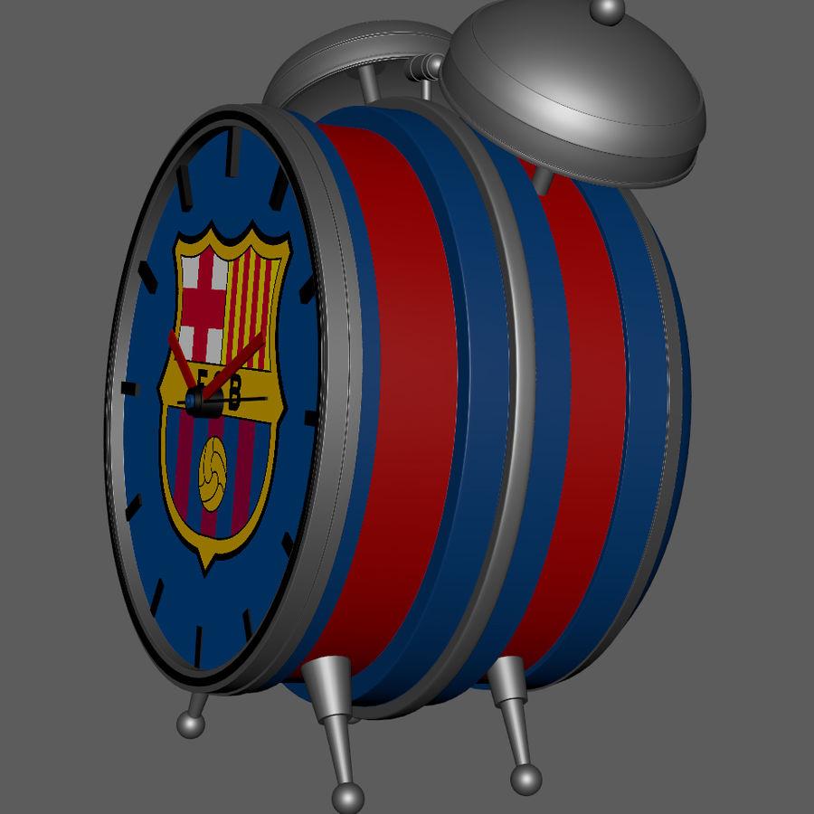 FC Barcelona Alarm Clock royalty-free 3d model - Preview no. 5