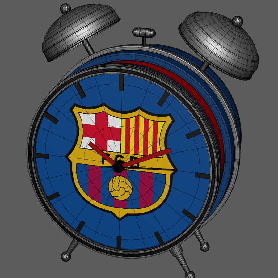 FC Barcelona Alarm Clock royalty-free 3d model - Preview no. 9