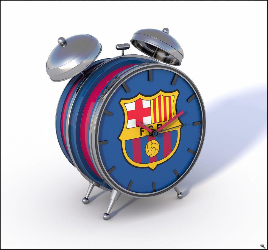 FC Barcelona Alarm Clock royalty-free 3d model - Preview no. 1