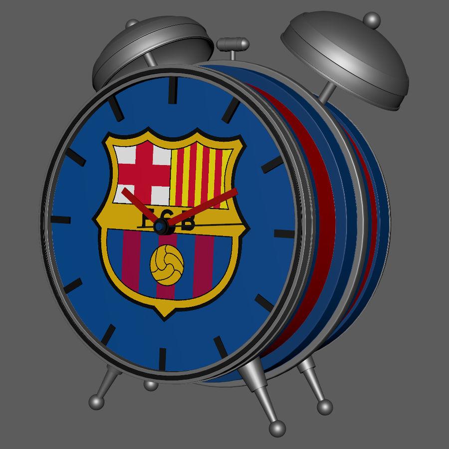 FC Barcelona Alarm Clock royalty-free 3d model - Preview no. 4