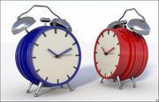 Conjunto de reloj despertador modelo 3d