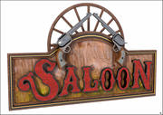 Western Saloon Label en Colts 3d model
