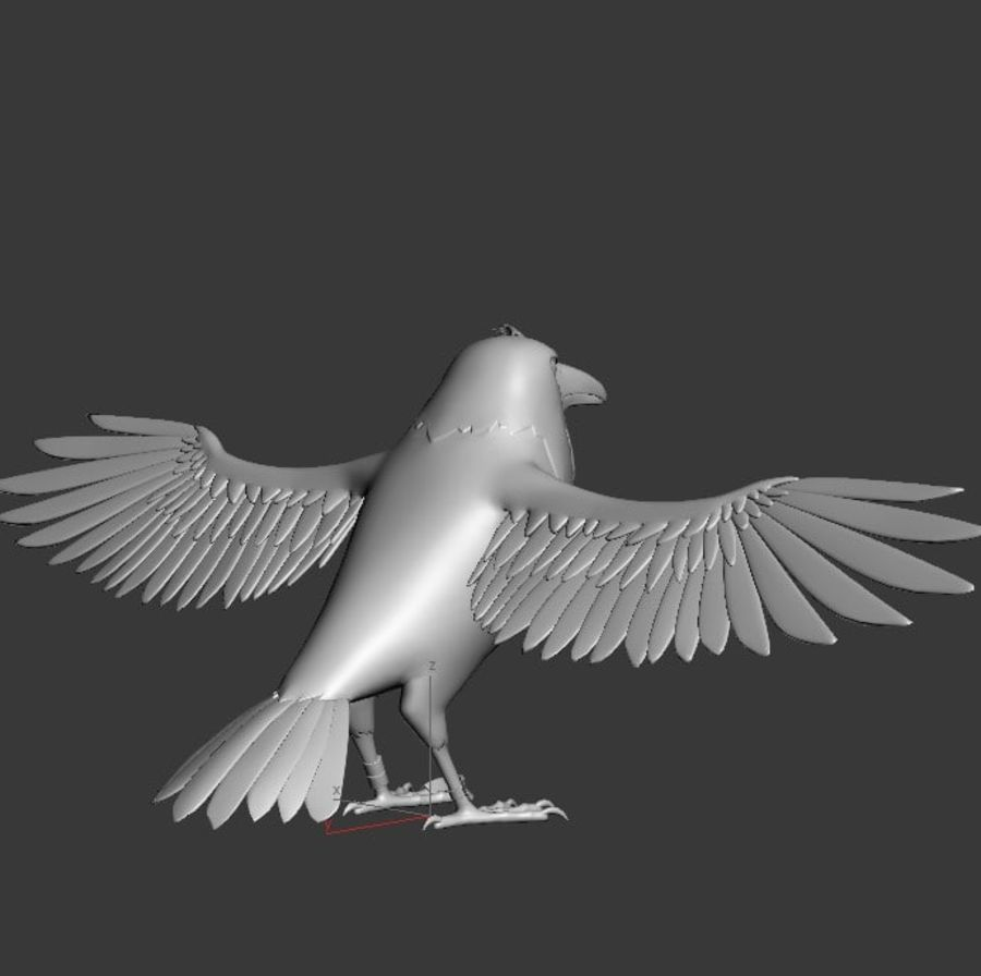 Orzeł royalty-free 3d model - Preview no. 9