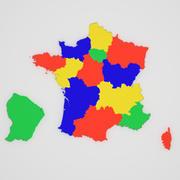 Kaart van Frankrijk 3d model