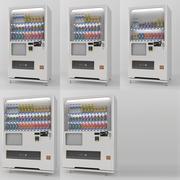 带有产品样本的完整自动售货机。传统风格的自动贩卖机。 3d model