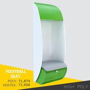 풋볼 좌석 3d model